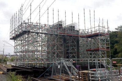 Byggställning infrastruktur